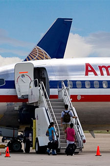 boarding american airlines