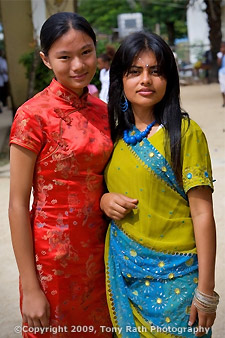 Taiwanese and Indian girls